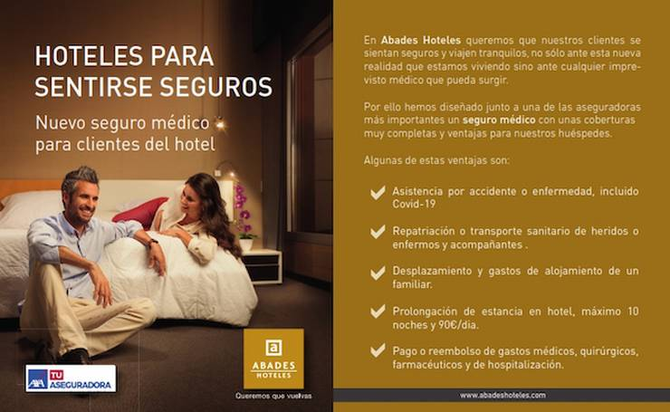 Covid travel insurance included hotel abades benacazón 4*