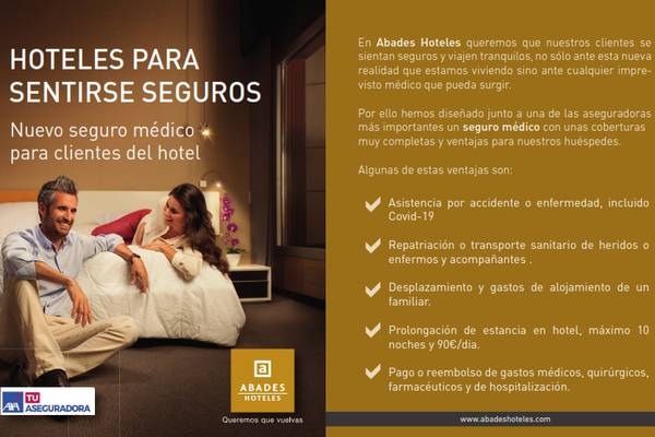 Covid travel insurance included abades nevada palace 4* hotel granada